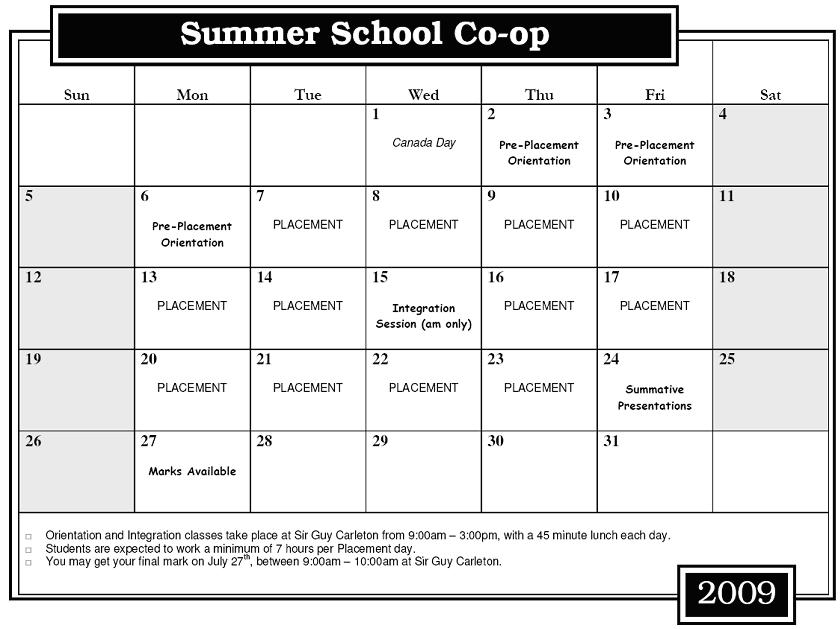 School Event Calendar School Calendar of Events